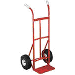 HD TWIN HANDLE HAND TRUCK 600LB PNEUMATIC WHEEL