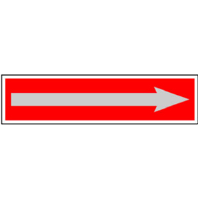 2 X 8 RED ARROW SELF-ADHESIVE SIGN