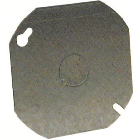 "4"" ROUND COVER W/ 1/2"" KNOCKOUT"