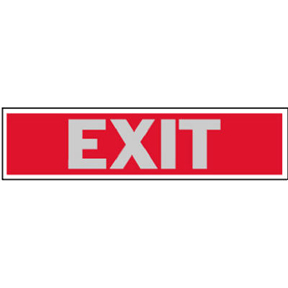2 X 8 SELF STICK EXIT SIGN