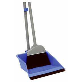 FLIP-LOCK DUST PAN AND LOBBY BROOM