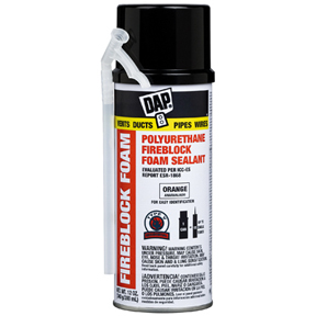 12oz DAP FIREBLOCK ORANGE POLYURETHANE FOAM SEALANT