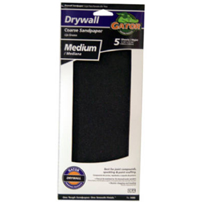 "5 PK 4-3/8"" X 11"" MEDIUM GRIT DRYWALL PAPER"
