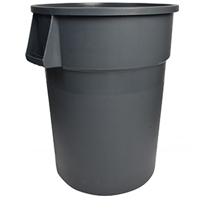 32gal GREY GARBAGE CAN #341032