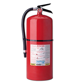20lb FIRE EXTINGUISHER W/INSPECTION CERTIFICATE