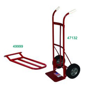 TWIN HANDLE HAND TRUCK 700 LB CAPACITY W/ NOSE PLATE EXT.