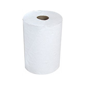 "WHITE ROLL TOWEL 8"" X 800'"