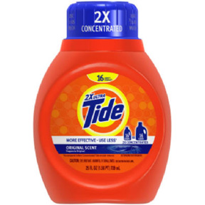 25 OZ. TIDE LIQUID DETERGENT  2 X COMPACTION