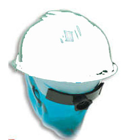 WHITE RATCHET HARD HAT