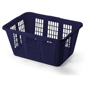 1.65 BUSHEL BLUE LAUNDRY BASKET