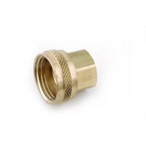 "3/4"" NPS x 3/4"" NH BRASS FEMALE SWIVEL HOSE ADAPTER"