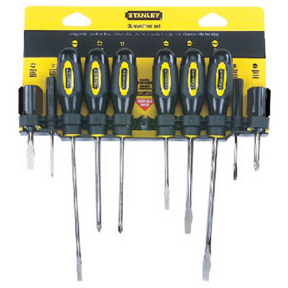 10 PC STANLEY SCREWDRIVER SET