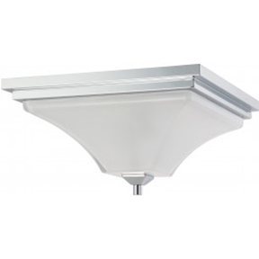 2-LIGHTS FLUSH MOUNT CEILING LIGHT IN POLISHED CHROME