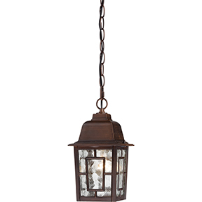BANYON 1 LIGHT RUSTIC BRONZE OUTDOOR HANGING FIXTURE WITH