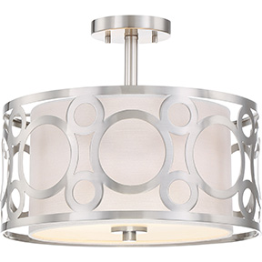 "FILIGREE 2 LIGHT 15"" SEMI FLUSH FIXTURE"
