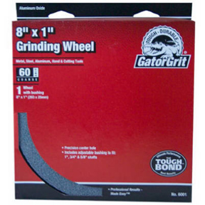 "GATOR GRIT 8"" X 1"" X 1"" HOLE 60 GRIT GRINDING WHEEL WITH"