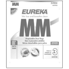 EUREKA TYPE MM VAC BAG FOR SERIES 3670 & 3680 3PK