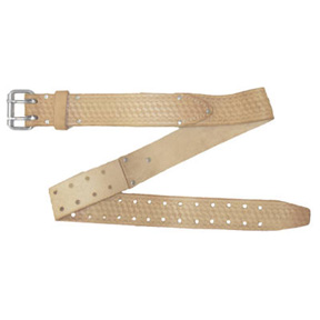 "2"" SADDLE LEATHER WORK BELT FITS TO 46"""
