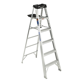 6' ALUMINUM STEP LADDER 300 LBS. RATING