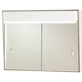 SLIDING DOOR MEDICINE CABINET W/LIGHT