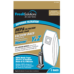 HOOVER 2PK Y&Z STYLE HEPA FILTRATION SYNTHETIC VACUUM