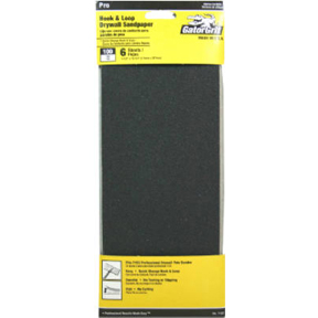 6 CT 100 GRIT HOOK & LOOP DRYWALL SANDPAPER FOR USE W/