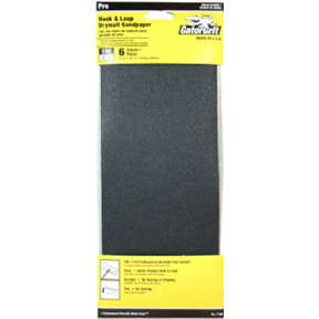 6 CT 150 GRIT HOOK & LOOP DRYWALL SANDPAPER FOR USE W/