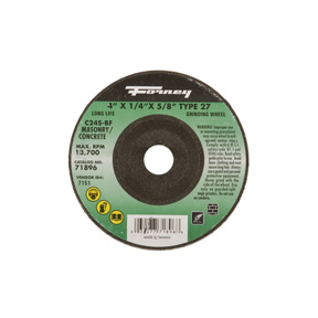 "4"" X 1/4"" X 5/8"" MASON GRINDING WHEEL TYPE 27 FOR"