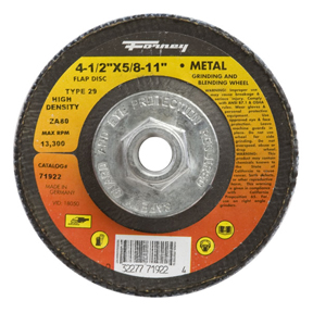 "4 1/2""X5/8-11 80 GRIT ZIRCONIA FLAP DISC - TYPE 29."