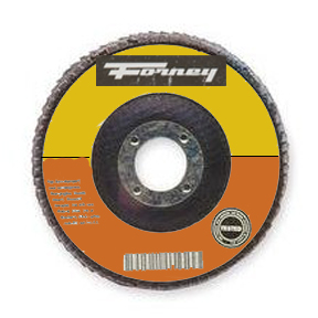 4-1/2 X 7/8-60 GRIT ZIRCONIA FLAP DISC - TYPE 27 FOR USE