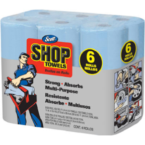 6pk BLUE SHOP TOWEL