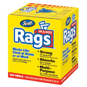 200 CT. DISP RAGS IN A BOX
