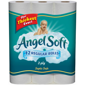 12PK ANGEL SOFT WHITE TOILET TISSUE