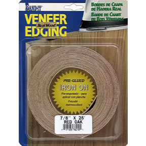 "7/8"" X 25' WHITE BIRCH EDGE TAPE  VENEER EDGEBANDING"