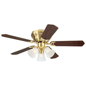 "42"" BRASS FINISH CEILING FAN"