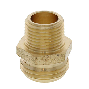 "3/4"" NH x 1/2"" NPT BRASS MALE HOSE CONNECTOR"