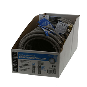 "72"" BRAIDED S/S DISHWASHER CONNECTOR"