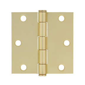 3-1/2 X 3-1/2 BUTT HINGE SQ. CORNER BRASS FINISH