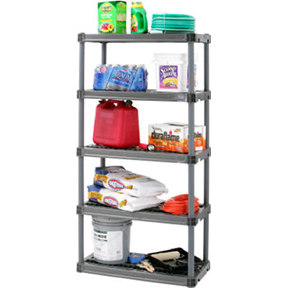 "18"" 5 SHELF HEAVY DUTY VENTILATED SHELVING UNIT"