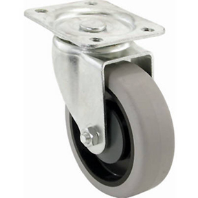 "4"" SWIVEL THERMOPLASTIC RUBBER PLATED CASTER"