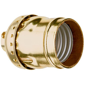 660W 250V BRASS FINISH KEYLESS SHELL SOCKET.