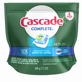 CASCADE 14CT COMPLETE ACTION PAC REGULAR SCENT