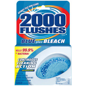 2000 FLUSHES AUTO BOWL CLEANER W/BLEACH BLUE