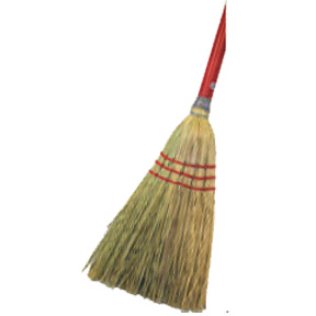 "LOBBY CORN BROOM W/30"" HANDLE"