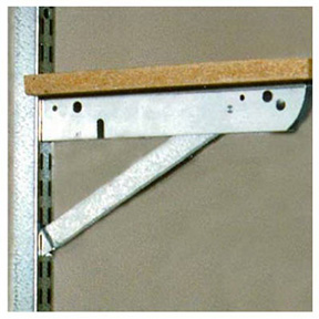 "JOHN STERLING 20"" HD DOUBLE BRACKET WITH FOLD OUT SUPPORT."