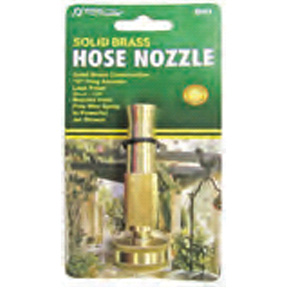 "4"" SOLID BRASS STRAIGHT HOSE NOZZLE"