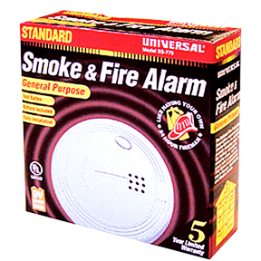 BATTERY SMOKE ALARM W/9V BATT