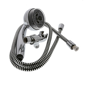 "3 FUNCTION CHROME PERSONAL SHOWER W/60"" SS HOSE"