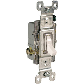 WHITE SINGLE POLE LIGHTED SWITCH