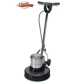 "POWR-FLITE 17"" 1.5 HP 175RPM FLOOR MACHINE W/UNIVERSAL PAD"